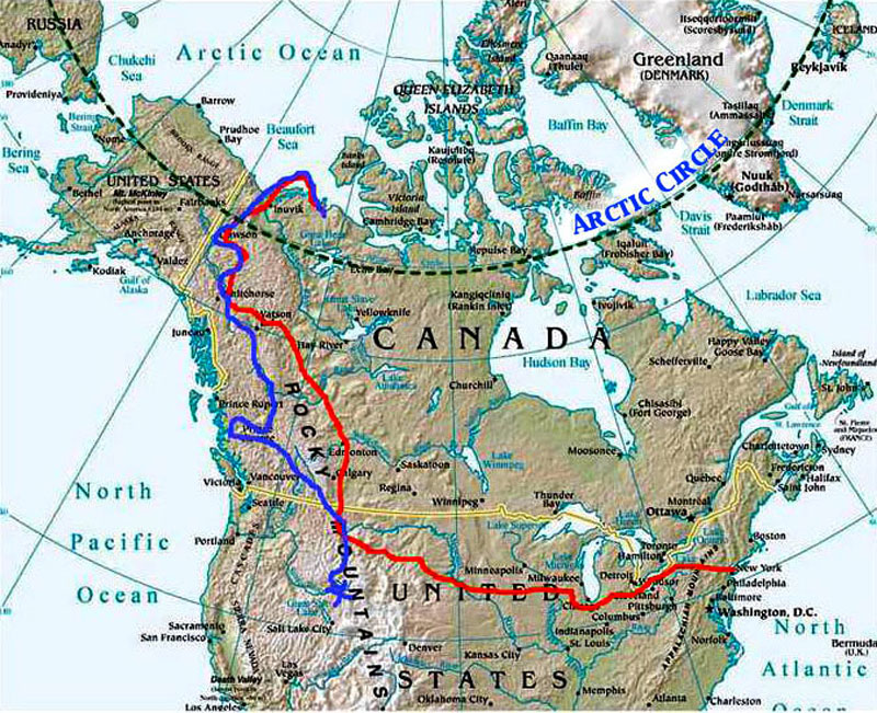 Map Of Arctic Circle Canada Hubert Kriegel on Thetimelessride RTW