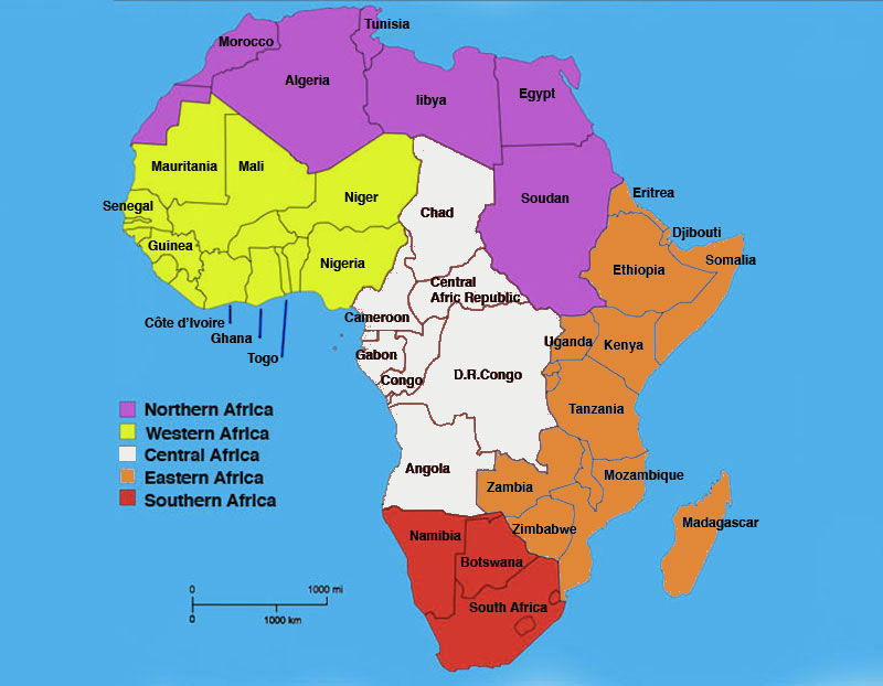 Africa Map Eastern And Central Africa Map