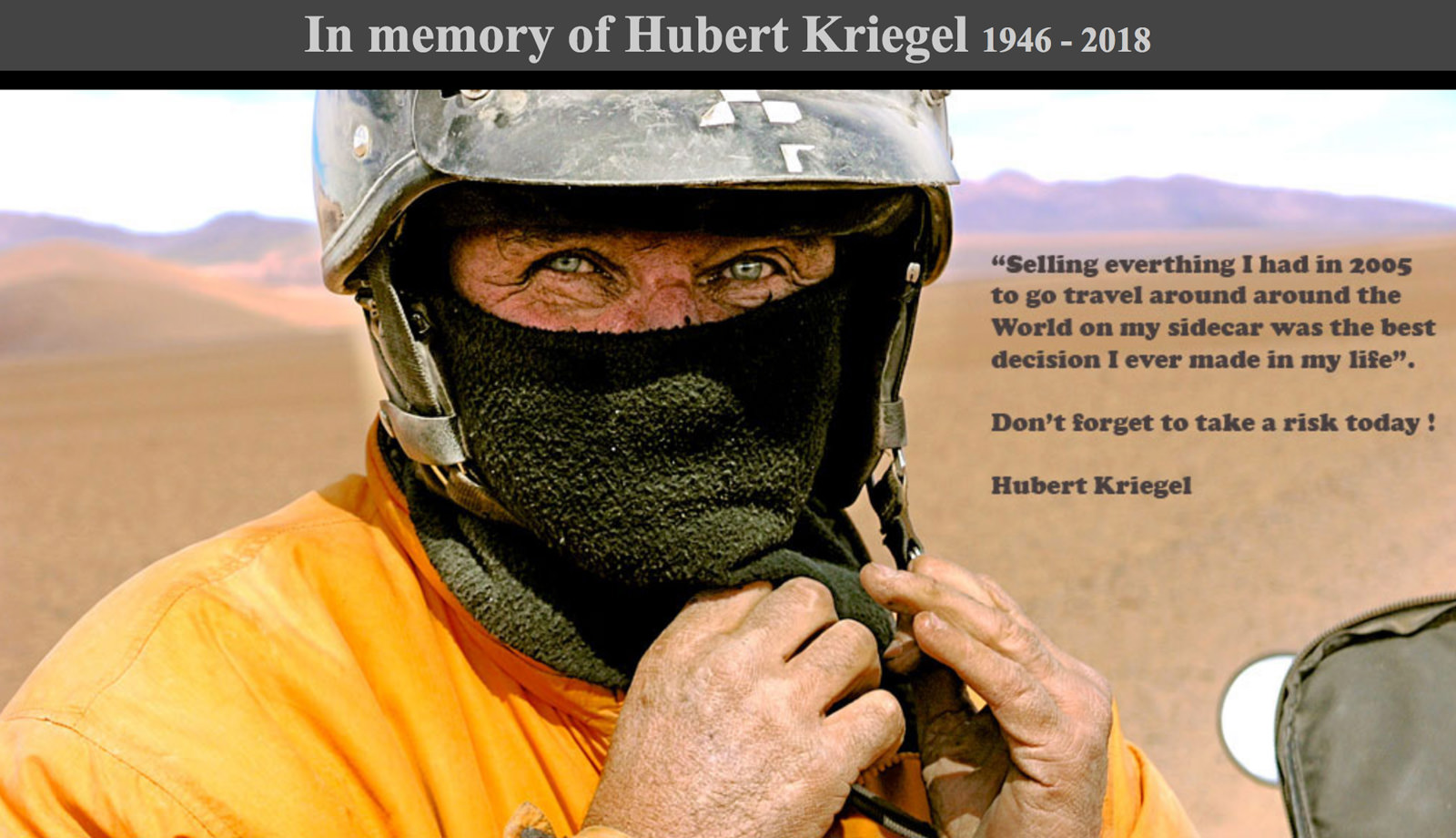 In Memory of Hubert Kriegel